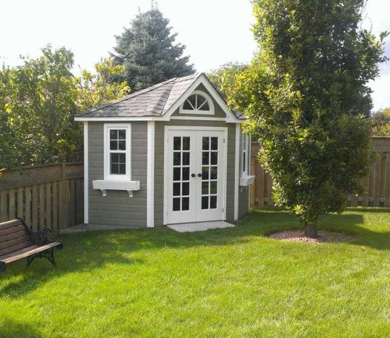 Corner shed garden ideas pinterest backyard for Corner garden shed designs