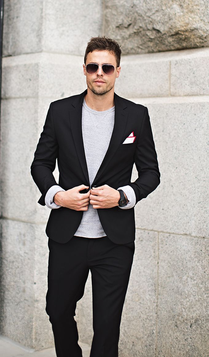 d658fec68958 Adding Variety to Your Black Suit | Hello His Summer Evening Wear, Khaki  Joggers,