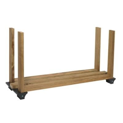 2 X 4 Basics Black Firewood Rack Kit In 2019 Firewood Rack Log