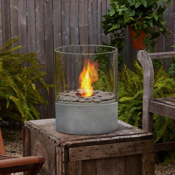 This 15 Personal Fireplace Burns Clean Gel Fuel To Enhance Any