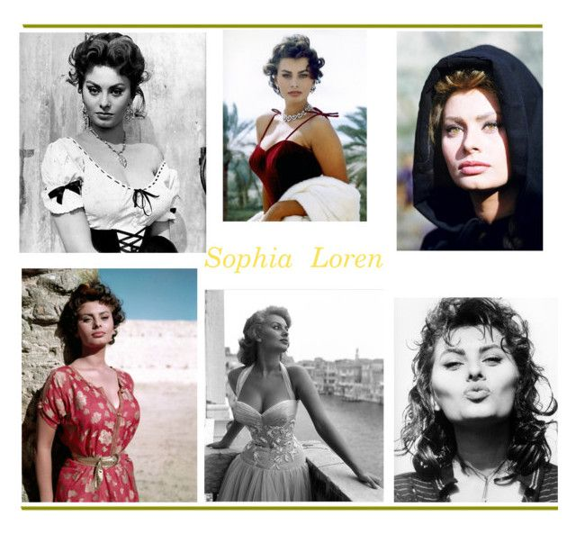 """""""Sophia Loren"""" by stylepetronio ❤ liked on Polyvore featuring art"""