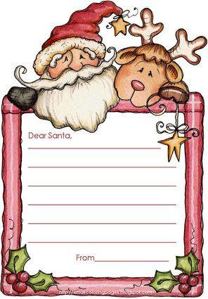 Free Letter To Santa Templates For Kids  Santa Letter Template