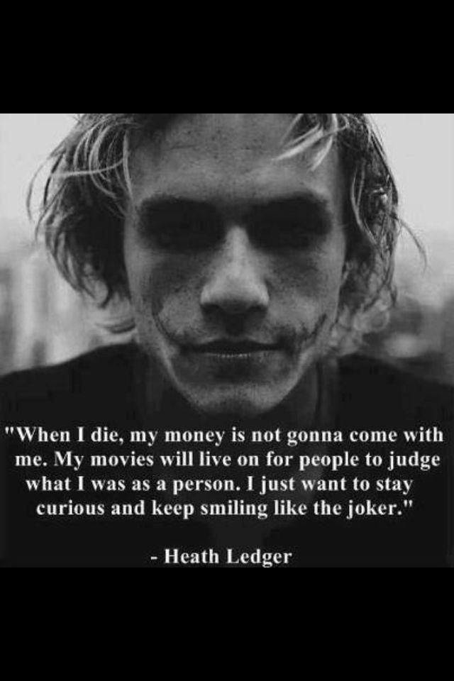 Heath Ledger Heath Ledger Quotes Joker Quotes Joker