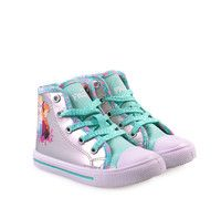 info for 3fb19 19ff5 FROZEN Blue Silver Girly High-cut Sneakers with Laces. Παιδικά μπλε ασημί  μποτάκια για κορίτσια με κορδόνια.
