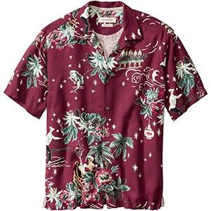 tommy bahama big tall merry kitchmas christmas holiday shirt aged claret jetcom