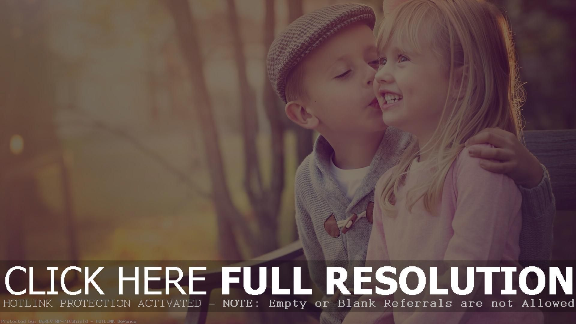 Cute Babies Girl and Boy Kissing Wallpapers Cool Pictures