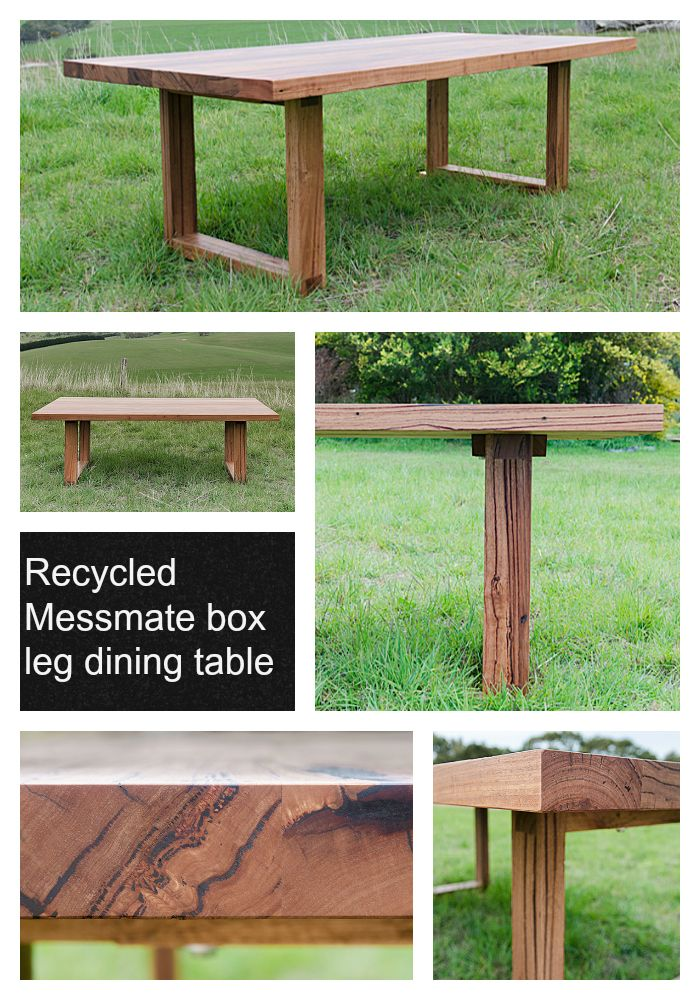 Sunnymead Recycled Messmate Solid Timber Dining Table.  Http://www.bomboracustomfurniture.