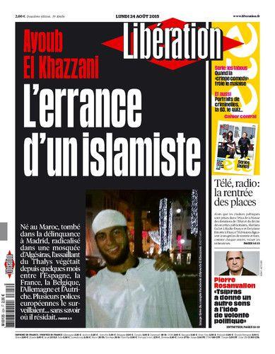 Libération, journal numérique du 24 août 2015