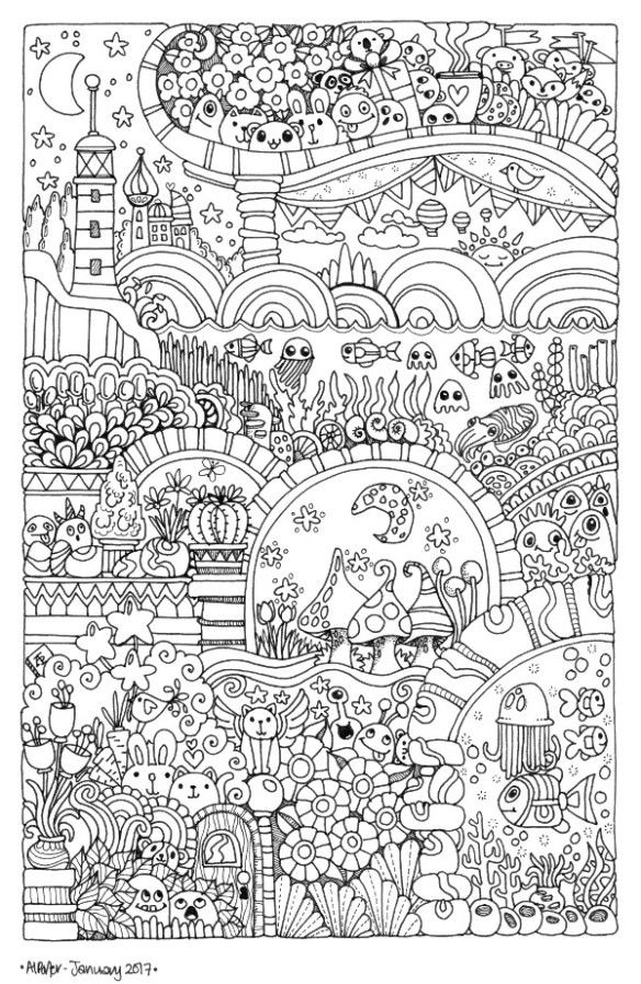 angela-porter20170122_009small | Colouring in | Pinterest | Mandalas ...