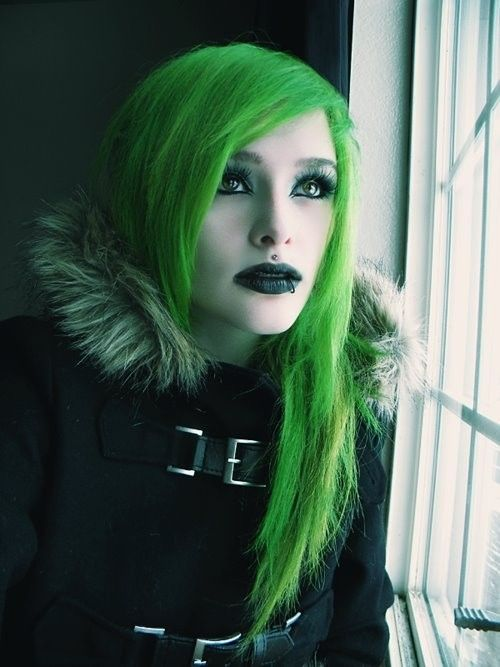 Green Punk Girl Cyberpunk Girl Hairstyle Cyber Girl