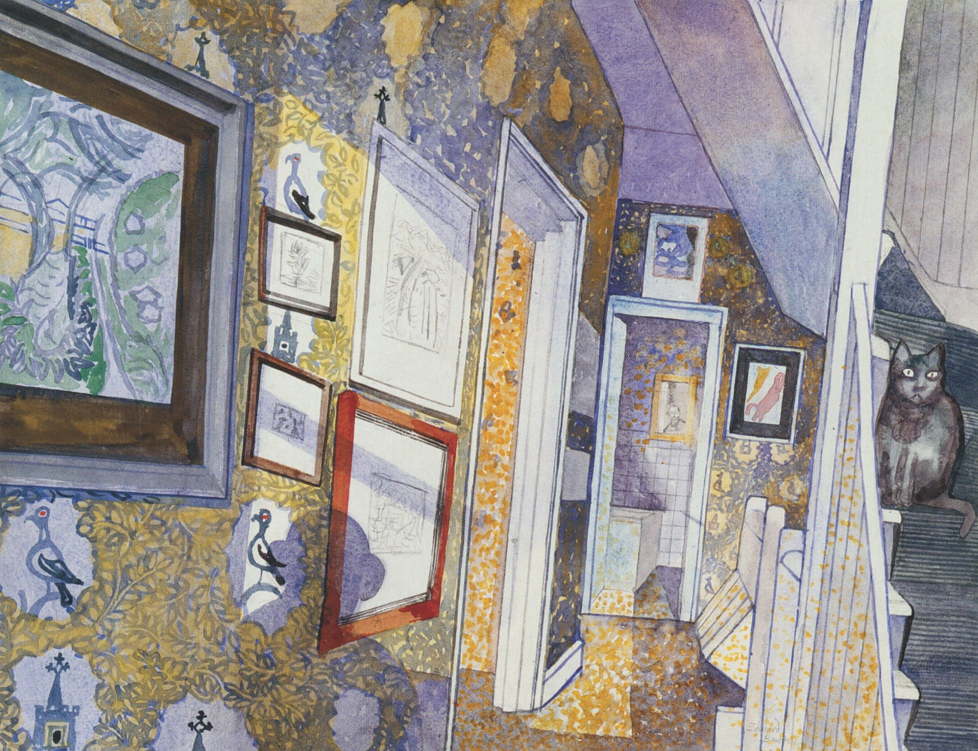 Edward Bawden, Silhouette and Cat