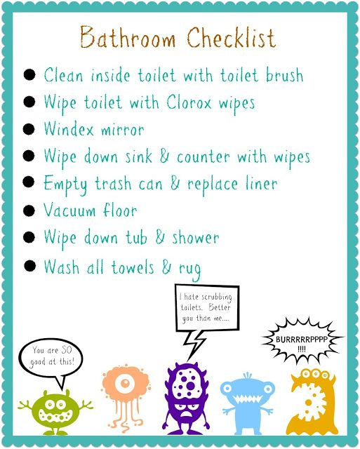 consequence chore list Organizing Your Kids-Free Printable