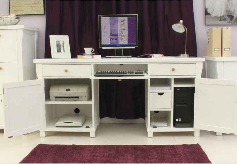 This Twin Pedestal Hidden Computer Desk Is Part Of Our Refreshingly Diffe New England Style County