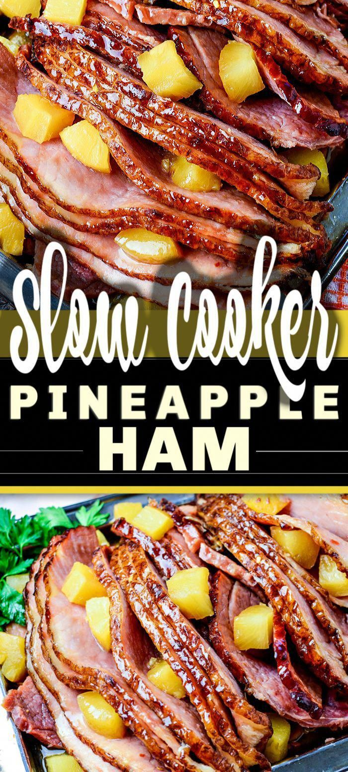 Slow Cooker Ham is a classic and iconic meal, yet there's so many variations on this recipe. Here is my go-to for the best SLOW COOKER BROWN SUGAR PINEAPPLE HAM ever, easy to make with just 5 ingredients - and so delicious!   #ham #slowcooker #thanksgiving #christmasdinner #pineappleham #WhatAreHealthyNutritionFacts