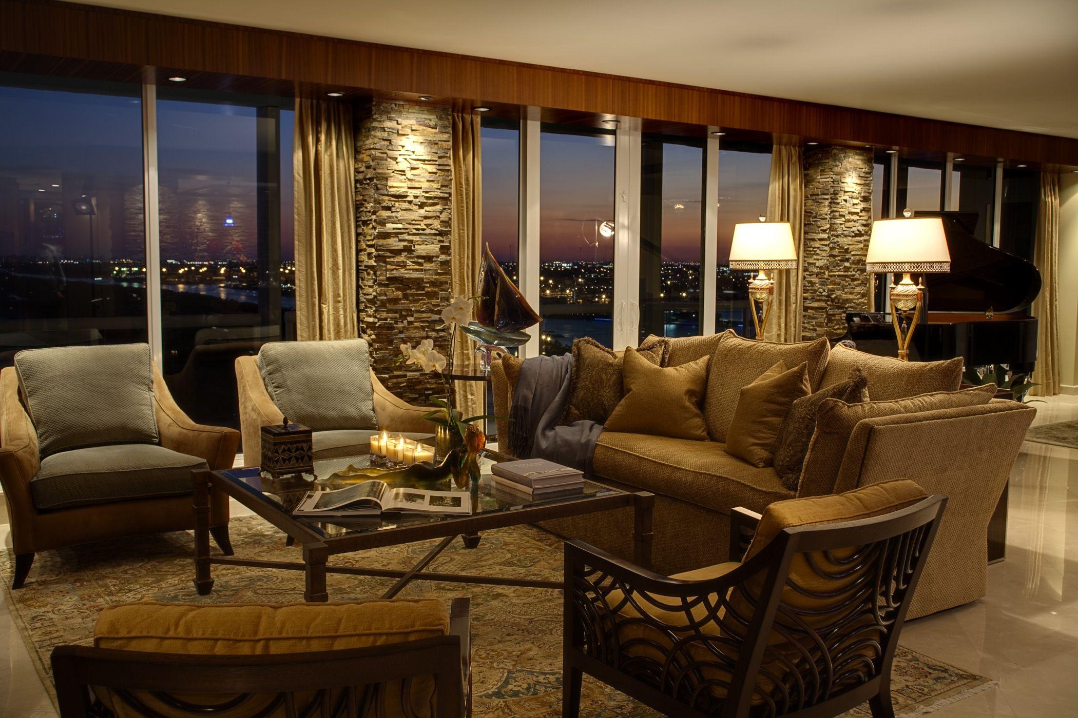 Michael blum designs penthouse in boca raton fl rattan manhattan lounge chairs by david francis