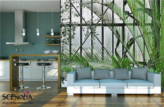 Jardin secret, décoration murale trompe l\'oeil végétal | projet déco ...