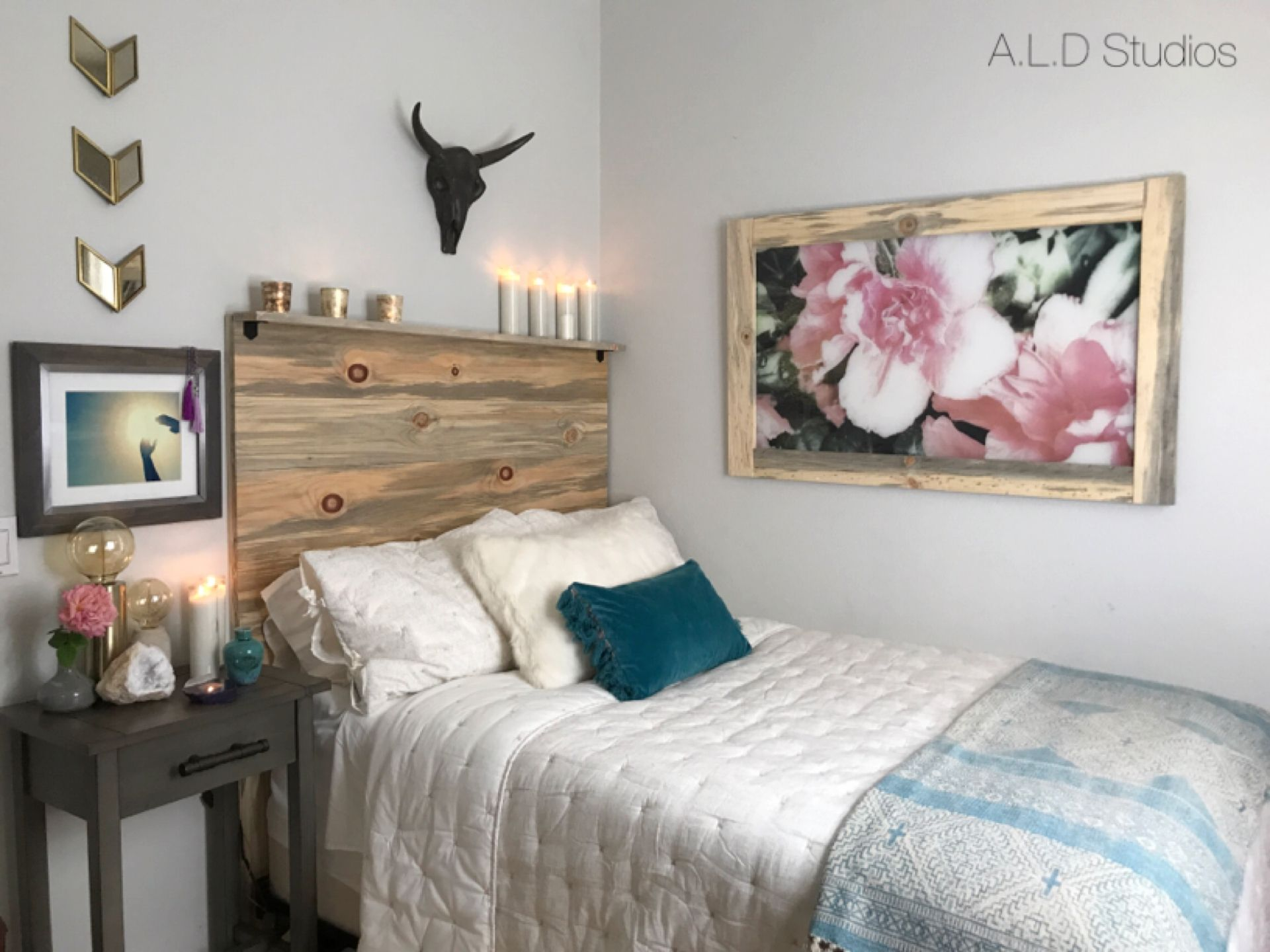 Sophisticated Rustic Chic Bedroom A.L.D Studios, Allyson