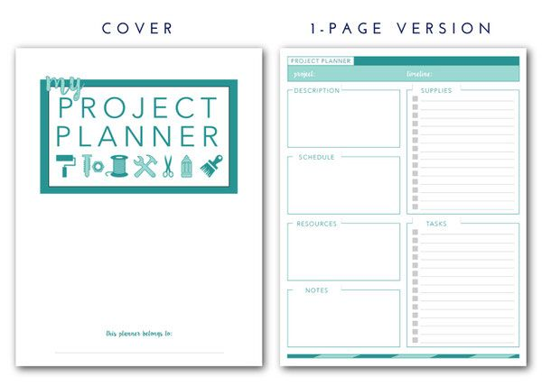 printable project planner library ideas pinterest project