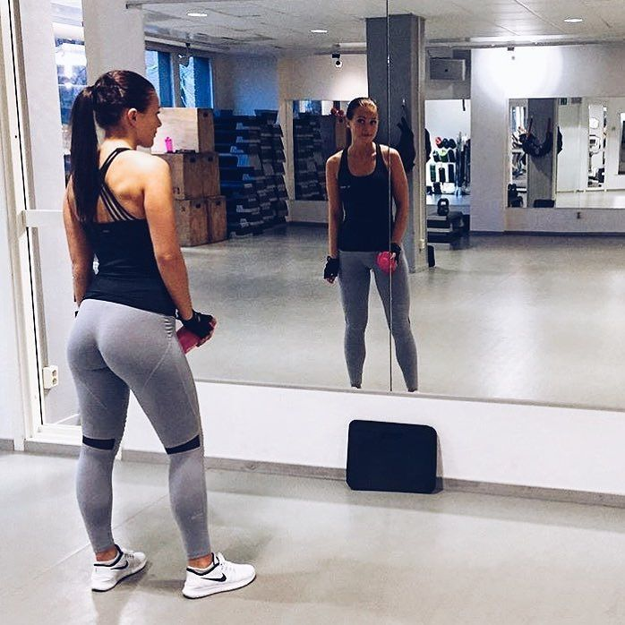 5e2b6c23f69 annalindroos looking good in our Grey Biker Tights  bringsportswear ...