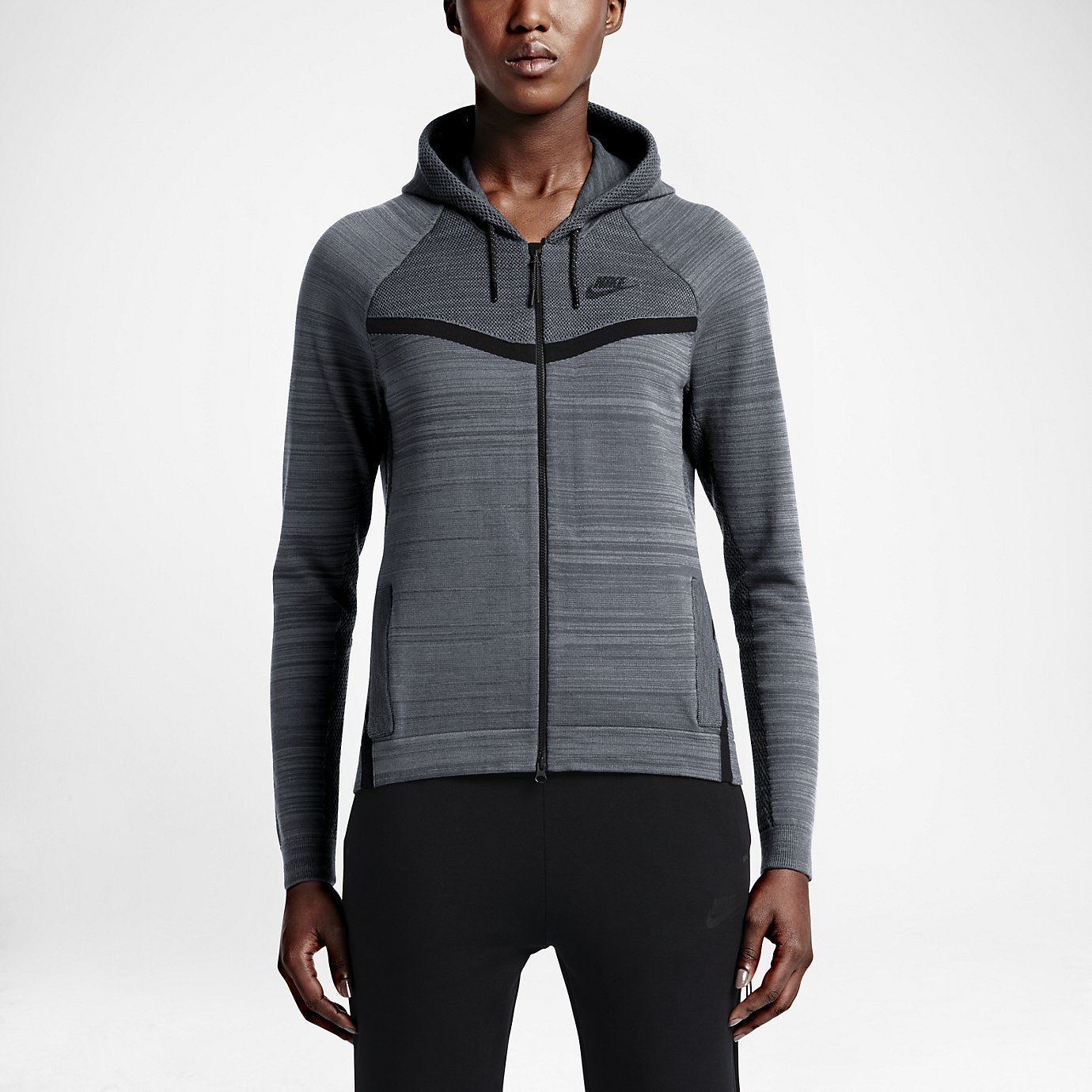 NEW COMFY Nike Tech Knit Windrunner Flyknit Jacket Grey