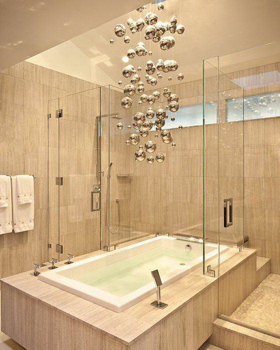 Luminaire salle de bains 30 idees inspirantes pour espace - plafond salle de bain