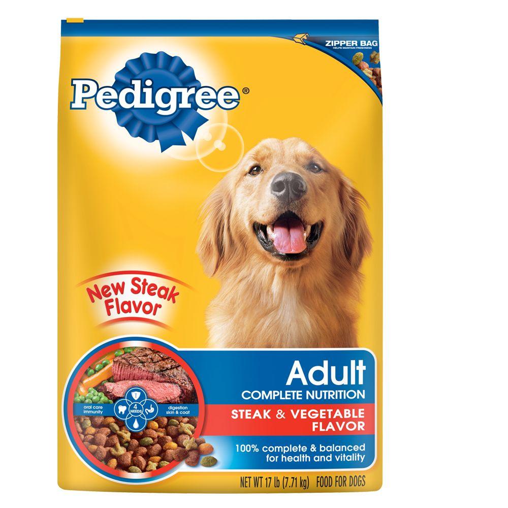 PEDIGREE® Steak & Vegetable Adult Dog Food Pedigree dog