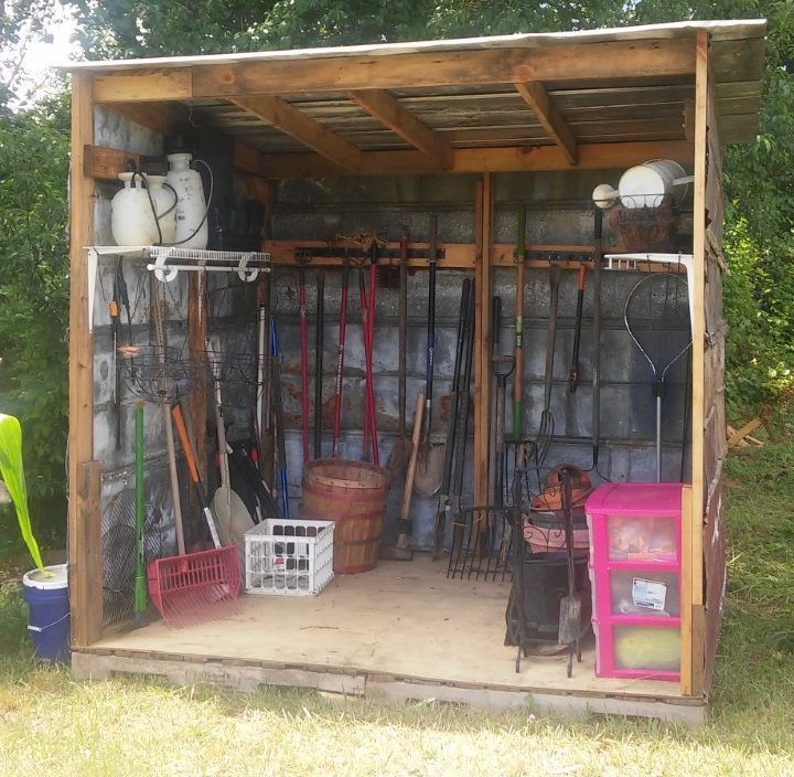 6 Simple Steps To Building A DIY Garden Shed For $3. Cheap Garden  ShedsRecycled MaterialsHow ...