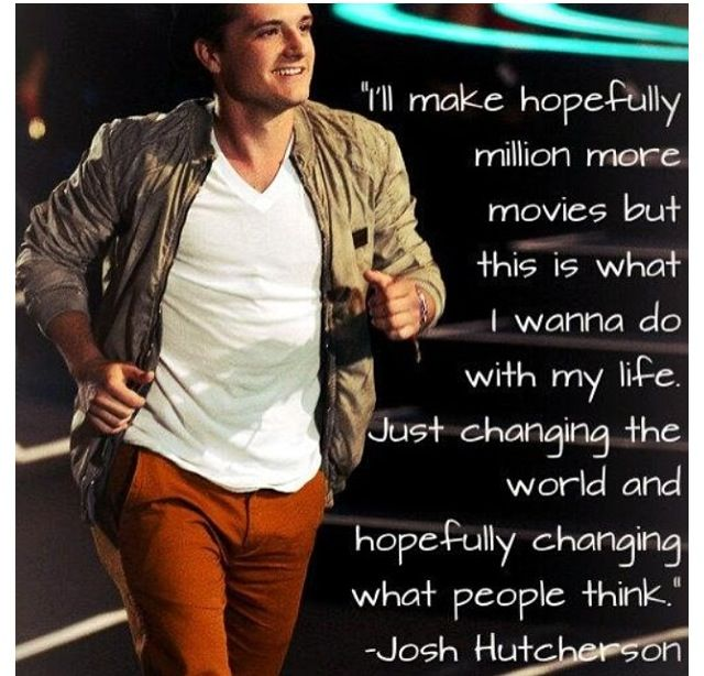 let me tell you josh, you have diffidently changed my world