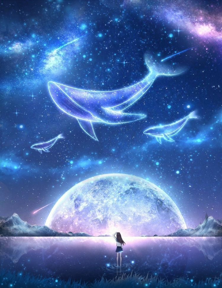 Pin By Faez Zafry On Other Stuff Scenery Wallpaper Fantasy Art Landscapes Anime Scenery Beautiful anime space wallpaper