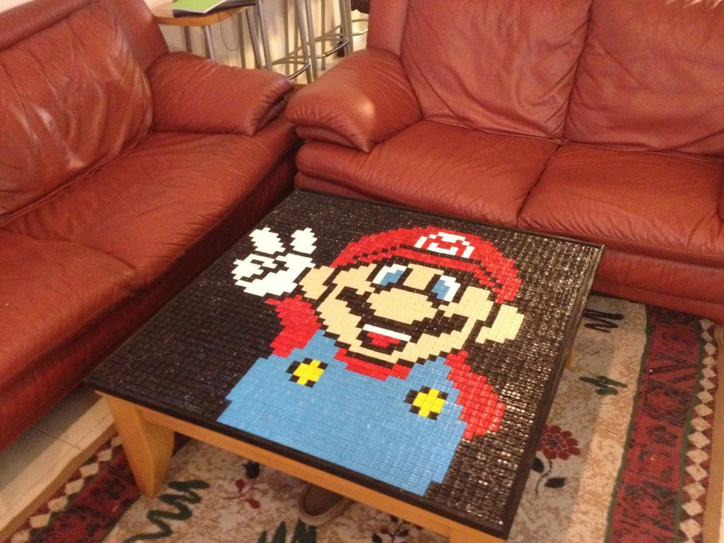 Pinterest & Super Mario Mosaic Table /Table Cover | Craft Ideas | Diy table top ...
