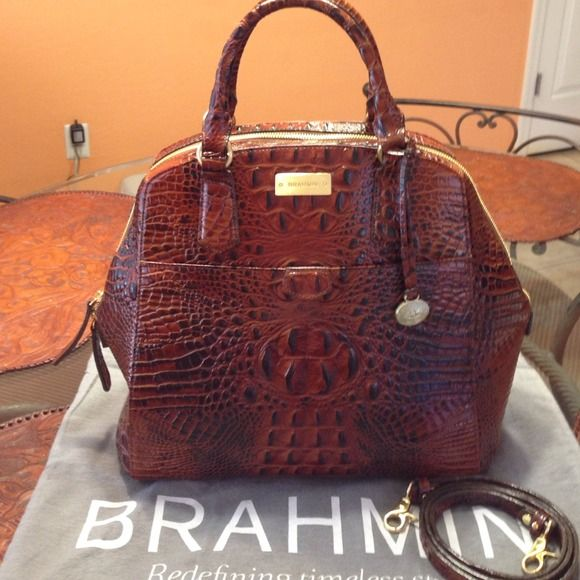 Brahmin Adele  Pecan Melbourne genuine leather Brahmin Adele Pecan Melbourne. The genuine Brahmin is handcrafted of the fines quality materials. It is the perfect balance of function and fashion so you are investing in timeless style. Brahmin Bags