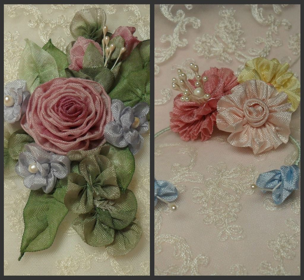 Lambs and Ivy Designs: ribbonwork ribbon work antiques antique ribbonwork