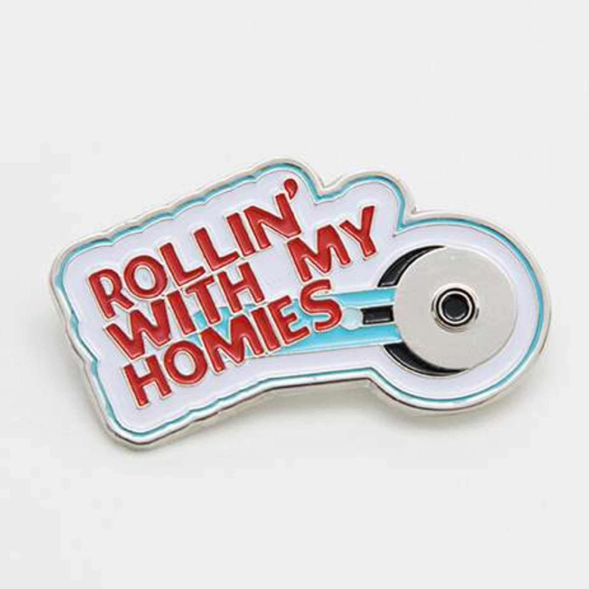 Rollin' With My Homies - Riley Blake Enamel Pin - Seamstress - Quilter - Rotary Cutter Hat Pin by JdawnsFabricsAndMore on Etsy