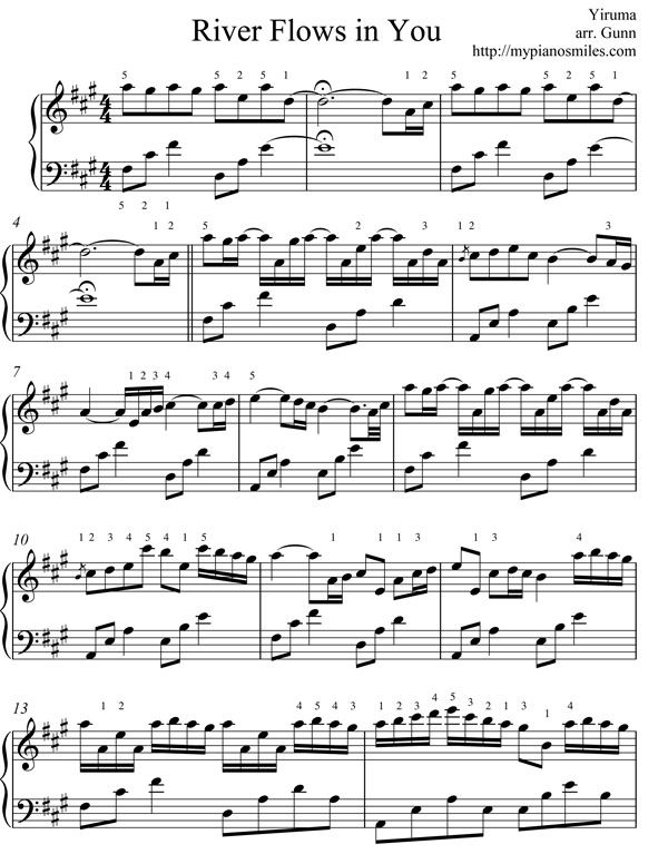 Musical Instruments With Images Piano Sheet Music Free Sheet