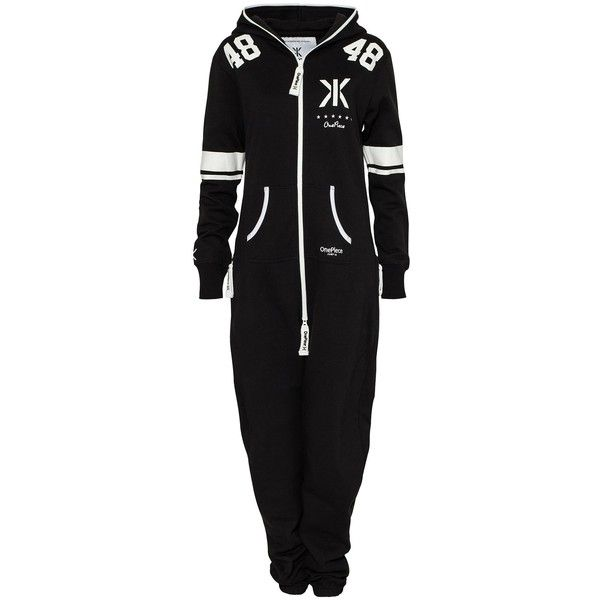 Onepiece College 48 Jumpsuit (485 BRL) ❤ liked on Polyvore featuring jumpsuits, onesies, pajamas, jumpsuit, one piece, black, womens-fashion, cotton jumpsuit, print jumpsuit and tall jumpsuit