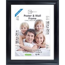 Mainstays 22x28 Matted To 18x24 Wide Poster And Picture Frame Black Walmart Com Frames On Wall Poster Frame Mainstays