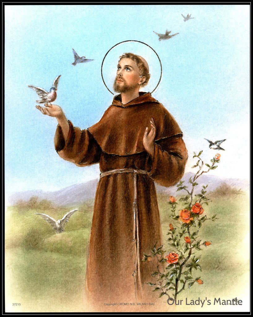 St Francis of Assisi | Art Print Picture St Francis of