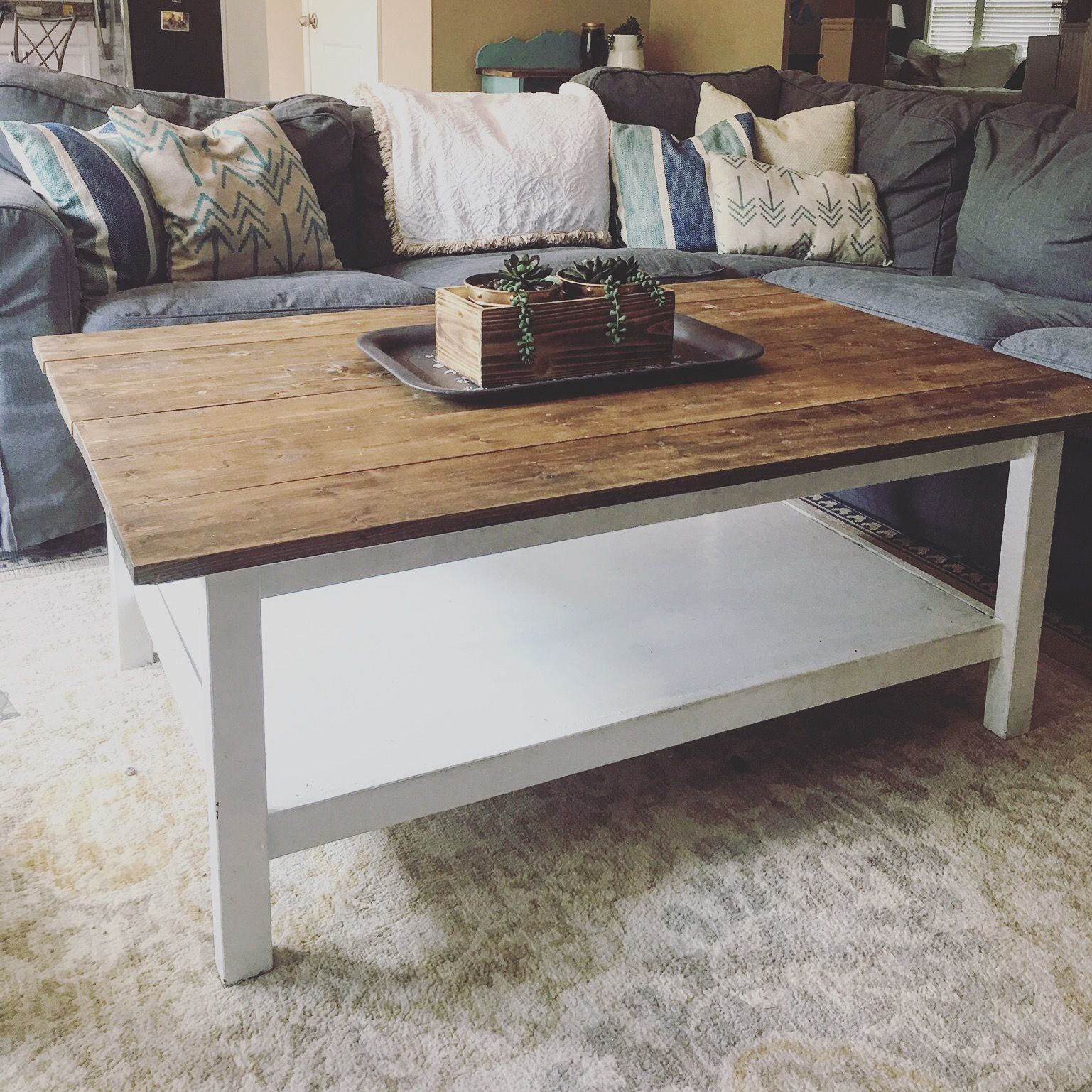 Ikea Coffee Table Use To Be All Black Now It S Been Given A Shabby Chic Makeover And Looks Fabulous Sjm F Diy Kitchen Table Ikea Coffee Table Wood Table Diy [ 1000 x 1000 Pixel ]