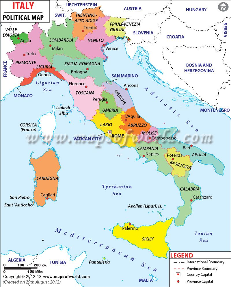 Italy On Map Of World.Political Map Of Italy Country Maps Map Of Italy Regions