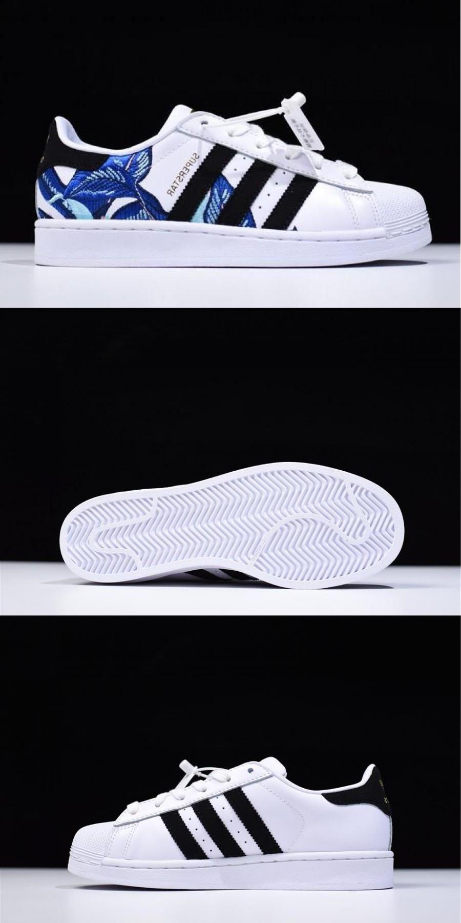 Adidas Superstar Floral Graphic White