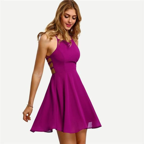 0ca1e5626c96 Backless Bandage Sleeveless Mini Dress in 2019 | Products ...