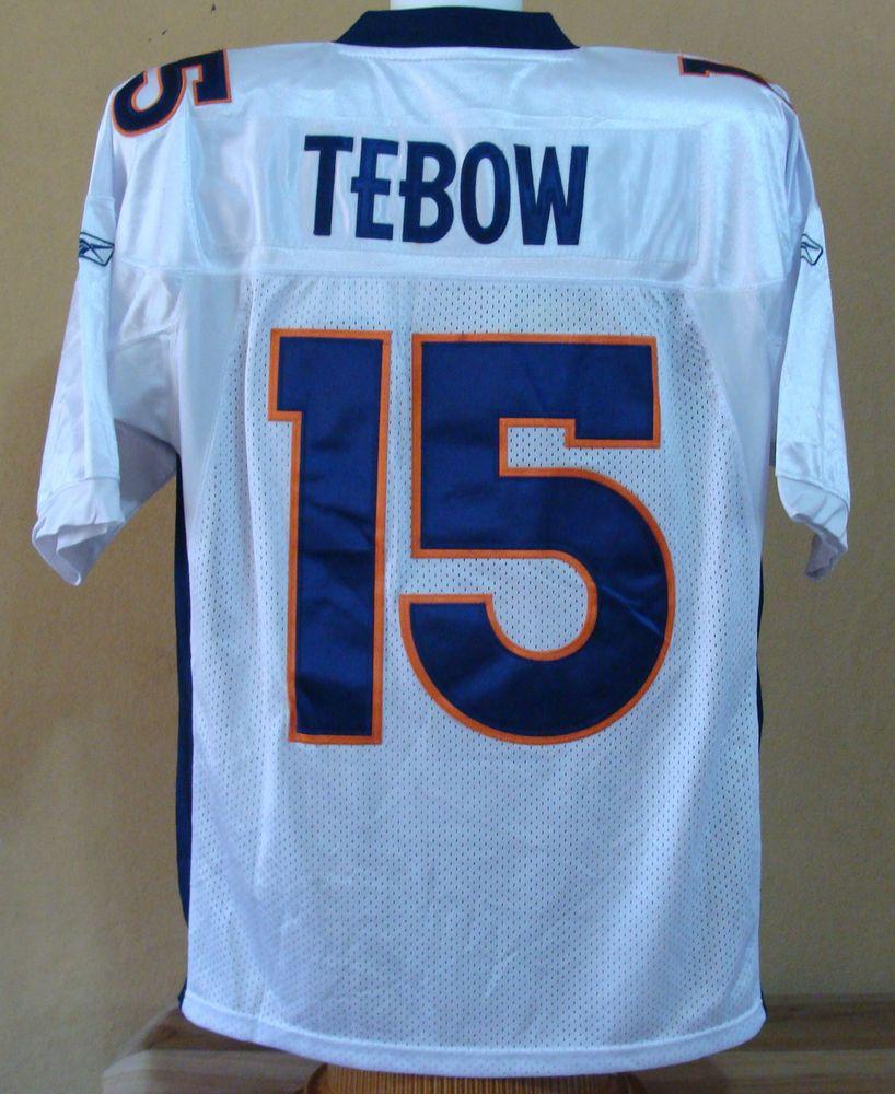 best service 350ef c013d Tim Tebow 15 Denver Broncos NFL Football Jersey Size 50 Mens ...