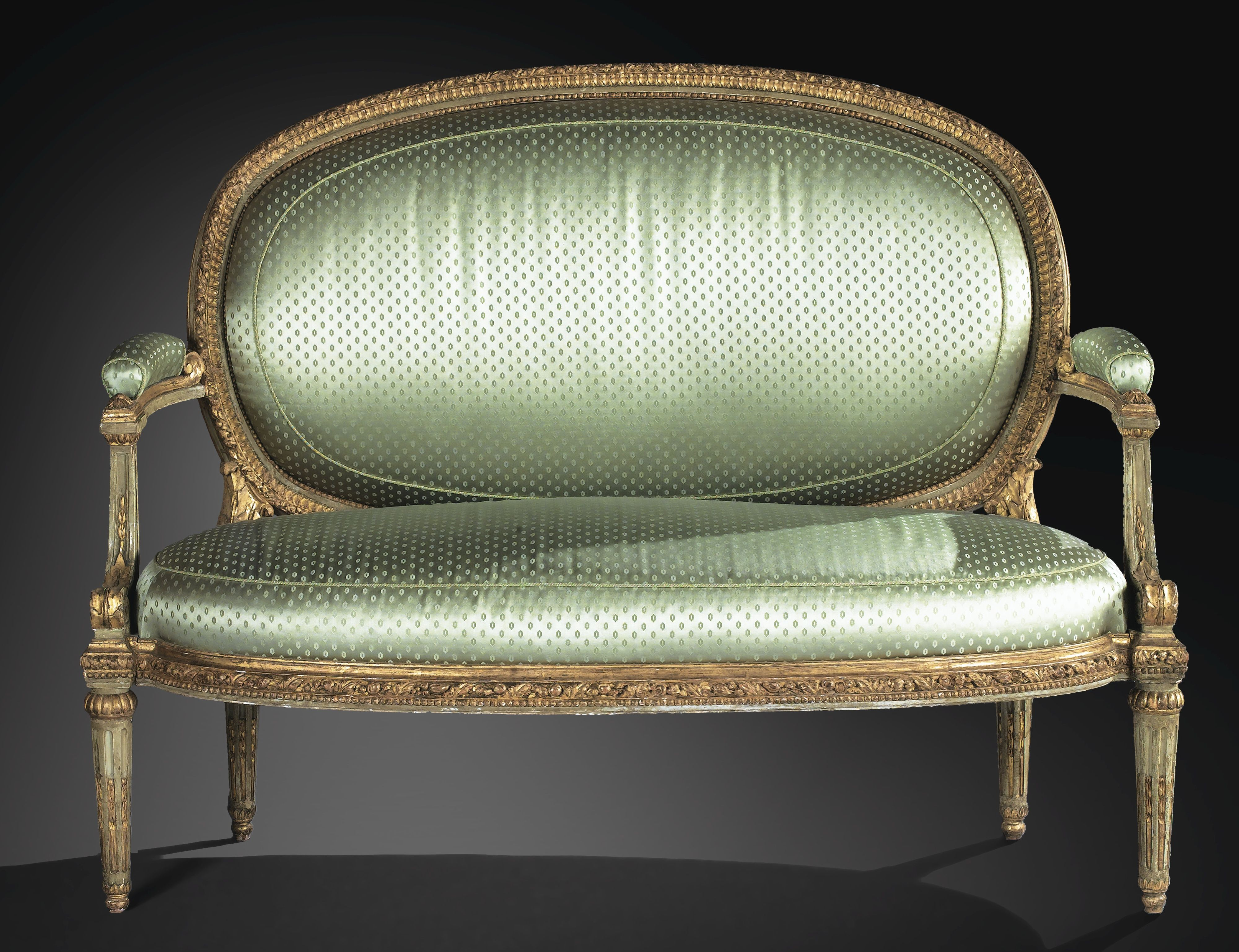 Ausziehbett Stoffsofa Louise A Rare Carved Painted And Giltwood Sofa Louis Xv Circa 1768