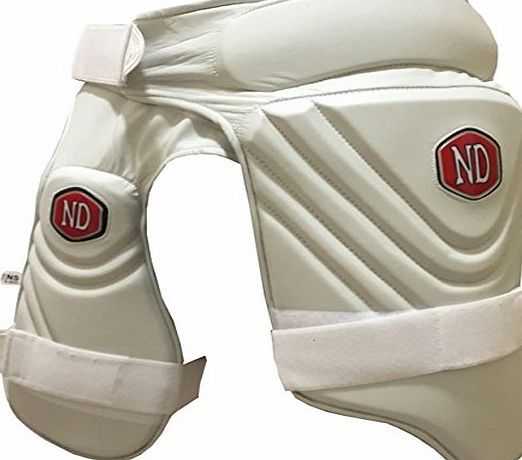 Cricket Batting Protection PADMAN Short Stripper Batsman Leg Thigh Pads Combo RH