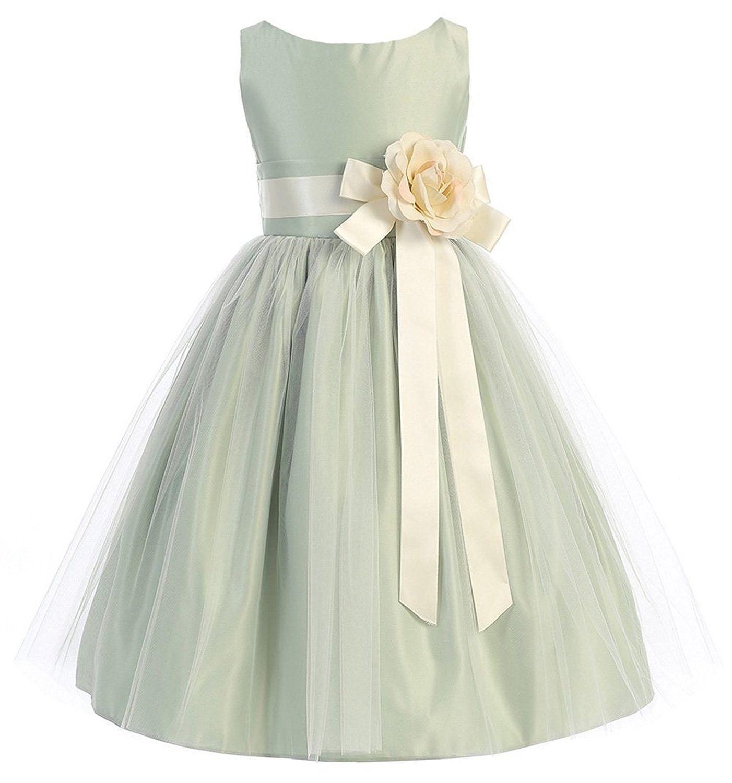 Daadress flower girls wedding party gowns bridesmaid