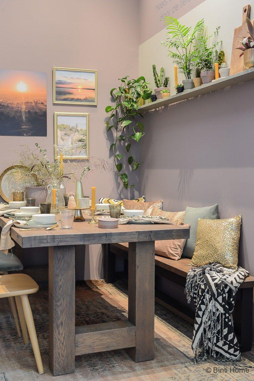Heart wood combineren met goud – styling tips voor de eetkamer ...