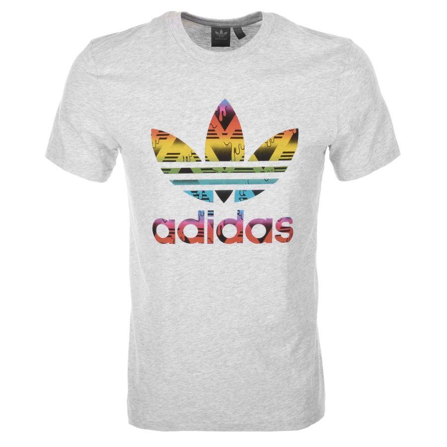 Adidas Originals | Adidas Originals Trefoil T Shirt Grey | Adidas Originals  T Shirts Adidas Originals