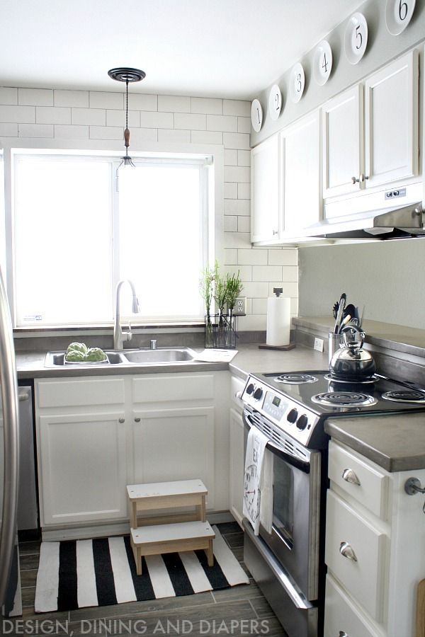 White Kitchen Makeover With Modern Farmhouse Design   Great Before And  After Pics Of What You Can Do With A Small Space.