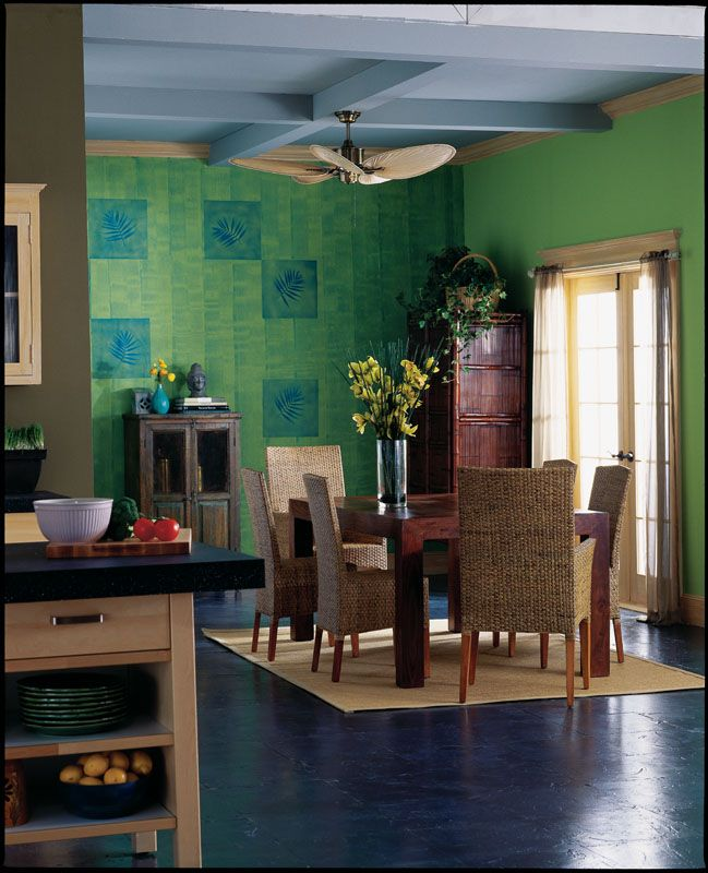 Dining Room Colors: Sherwin-Williams Grasshopper (SW 6733)