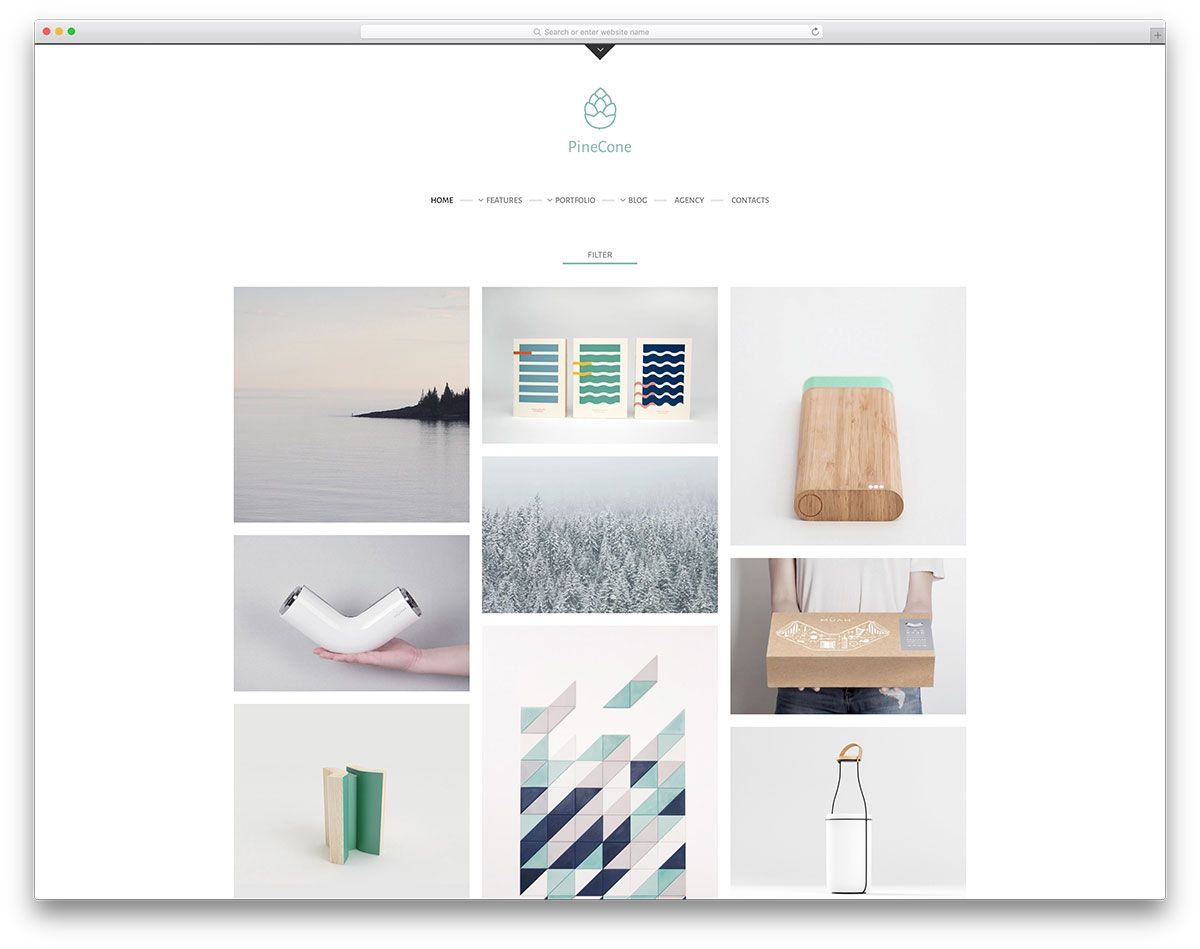 Pinecone minimal portfolio website template web design pinterest pinecone minimal portfolio website template maxwellsz
